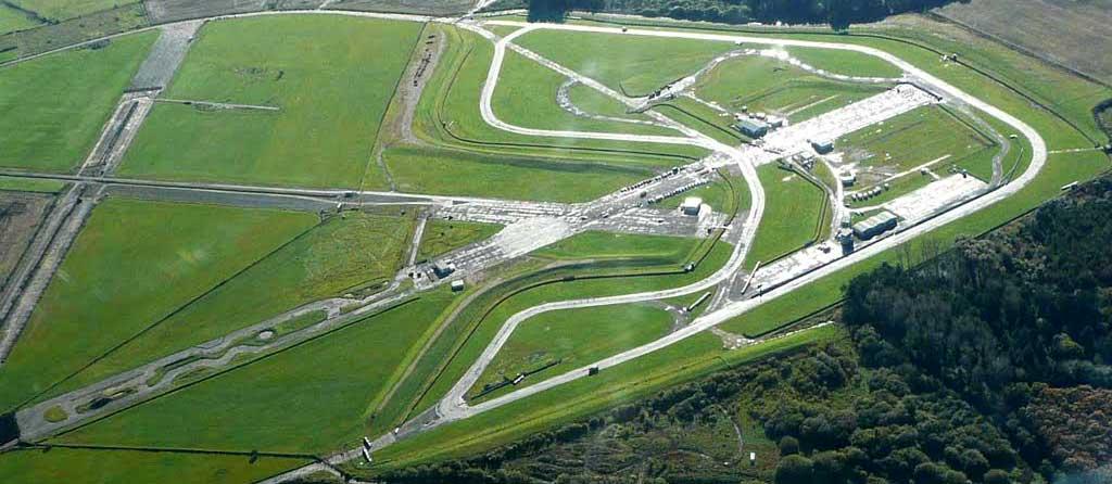 Aerial view of Pembrey Motor Racing Circuit